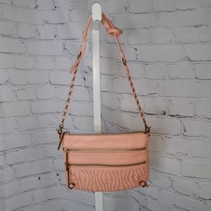 ELLIOT LUCCA Pink Leather Crossbody Bag